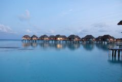 Water Bungalow Royalty Free Stock Images