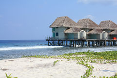 WATER BUNGALOW. MALDIVES Stock Images