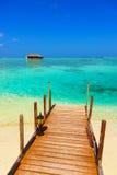 Water bungalow on Maldives island Stock Photo