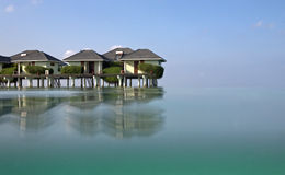 Water  Bungalow Royalty Free Stock Photos
