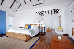 Water bungalow's interior Stock Photo