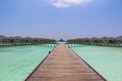 Water bungalow on Sun Island Maldives Royalty Free Stock Images