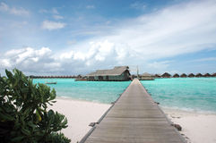Water bungalows Stock Images