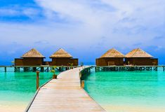 Water bungalows Stock Photography