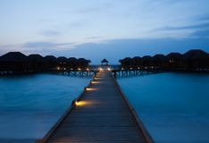 Water bungalows Stock Image
