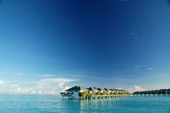 Water bungalows. Waterbungalow in the indian ocean Stock Images