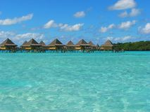 Water Bungalows in Bora-Bora, French Polynesia Royalty Free Stock Photography