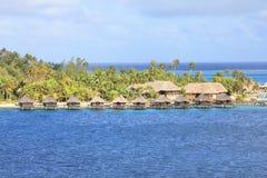 Water bungalows on Bora Bora island. French Polynesia royalty free stock photos