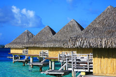 Water bungalows in Bora Bora Royalty Free Stock Photos