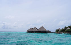 Water bungalows in the Indian Ocean Stock Image