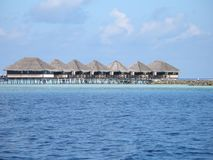 Water bungalows royalty free stock photo