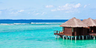 Water bungalows in Maldives Stock Photos