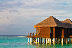 Water bungalows in Maldives Stock Photography