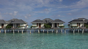 Water bungalows on Sun island resort , Maldives Stock Photography