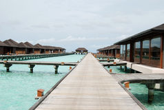 Water bungalows, Maldives Royalty Free Stock Photography