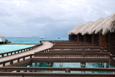 Water bungalows, Maldives Stock Image