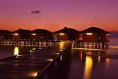 Water bungalows on Maldives island Stock Image