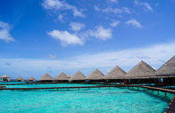 Water bungalows on Maldives Stock Images