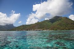 Water Bungalows, Moorea Stock Image