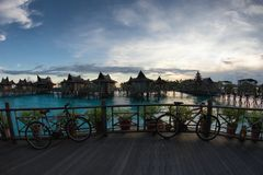 Water bungalows resort  Stock Photography