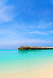 Water bungalows on a tropical island Royalty Free Stock Photos