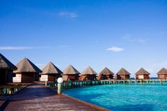 Water bungalows on the tropical island Stock Image