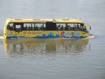 Water bus in budapest Royalty Free Stock Images