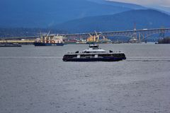 Water bus in Coal Harbour, Downtown Vancouver, British Columbia, Canada Royalty Free Stock Image
