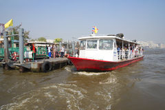 Water bus on the river Chao Phraya. Bangkok Royalty Free Stock Images