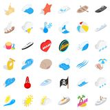 Water business icons set, isometric style. Water business icons set. Isometric set of 36 water business vector icons for web isolated on white background Royalty Free Stock Photos