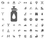 Water can icon. Sport illustration vector set icons. Set of 48 sport icons. Water can icon. Sport illustration vector set icons. Set of 48 sport icons Royalty Free Stock Photo