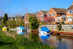Water canal in Ash, Hampshire Royalty Free Stock Image