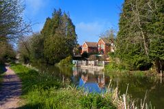 Water canal in Ash, Hampshire Stock Image