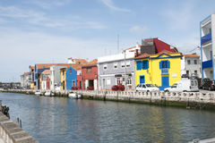 Water canal in Aveiro, Portugal Stock Images