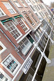 Water canal in city Delft, Netherlands Royalty Free Stock Images