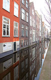 Water canal in city Delft, Netherlands Stock Photography