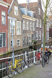 Water canal in city Delft, Netherlands Stock Photo