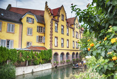 Water canal in Colmar, France Stock Images