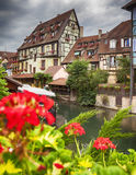 Water canal in Colmar, France Stock Photo