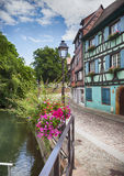 Water canal in Colmar, France Royalty Free Stock Photo