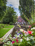 Water canal in Colmar, France Stock Photography