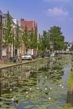 Delft water canal Royalty Free Stock Photography