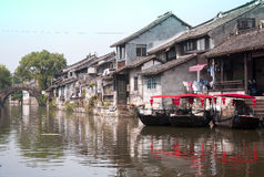 Water Canal of Fengjing Town Royalty Free Stock Photo