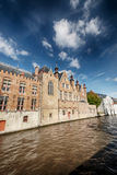 Water canal and old European buildings Royalty Free Stock Images