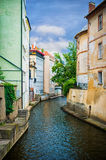 Water canal in Prague Stock Images