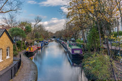 Water Canal and reflections in Little Venice in London - 4. Water Canal and reflections in Little Venice in London in Autumn - 4 royalty free stock image