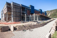 Water Canal Scaffolding Building Construction Stock Photography