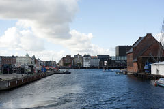 Water canal. Sea canal in copenhagen, nice Stock Image