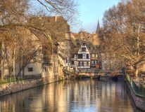 Water Canal In Strasbourg Stock Image
