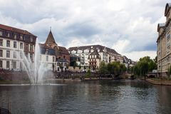 Water canal in Strasbourg. France stock images